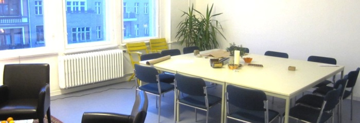 Bright seminar and workshop room